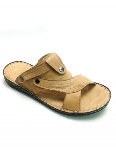 Reis Deri Terlik-Sandalet - Kamel c185