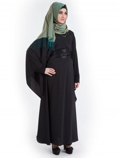 Yarasa Kol Elbise Model Ferace - Nisa